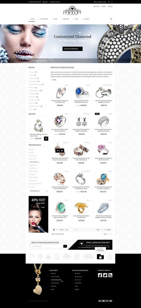 Jewelry Web Design 1