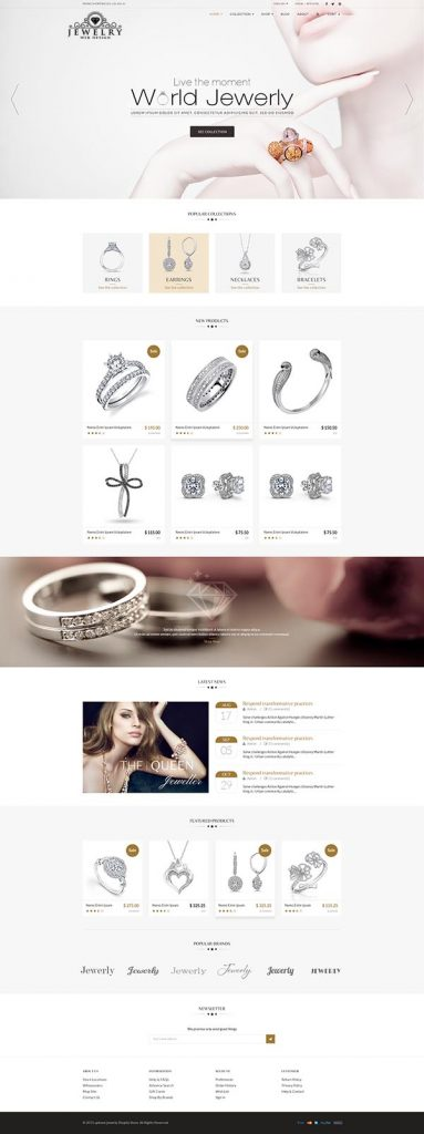 Jewelry Web Design 3