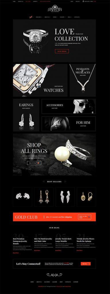 Jewelry Web Design 5