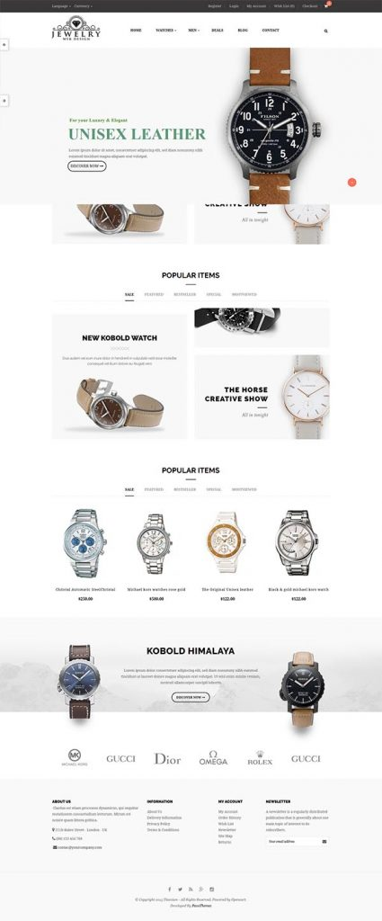 Jewelry Web Design 7