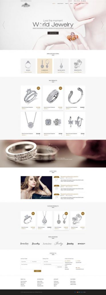 Jewelry Web Shop Design 1