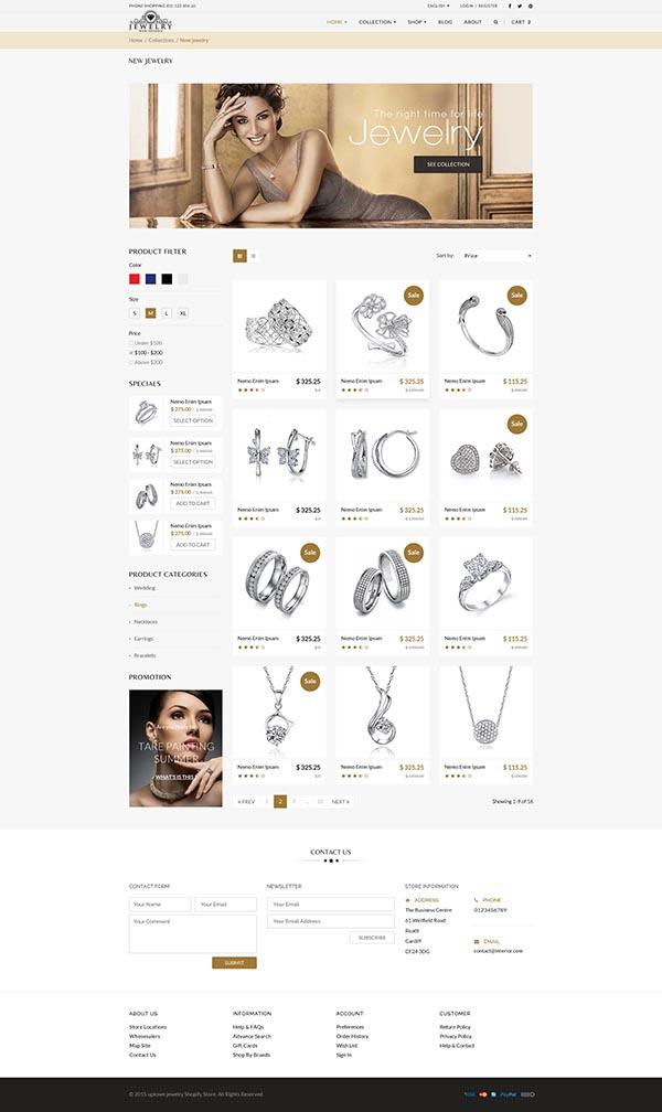Jewelry Web Shop Design 2