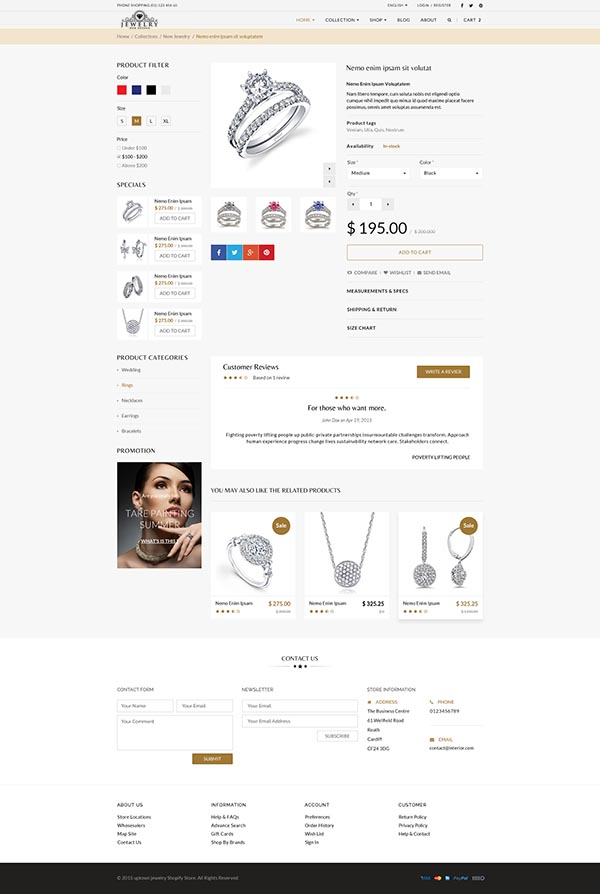 Jewelry Web Shop Design 3