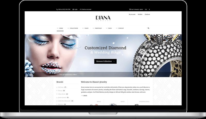 Jewelry Web Design Laptop