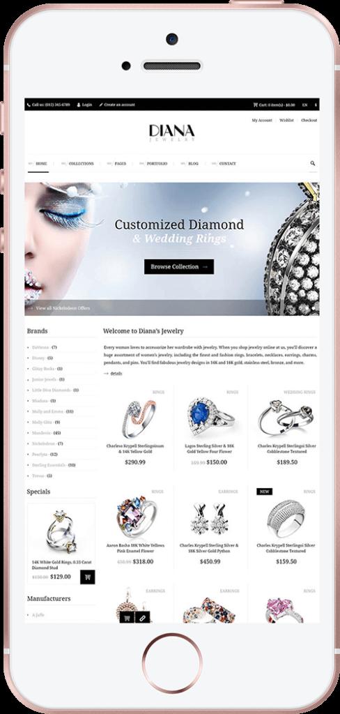 Jewelry Web Design Mobile